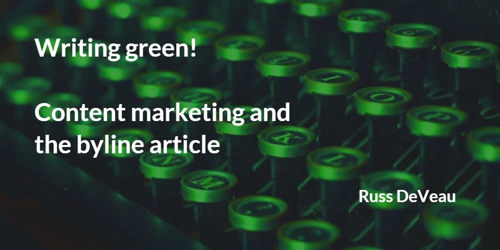 Russ DeVeau writing green