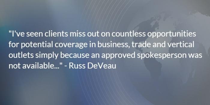 Russ DeVeau Corporate Spokesperson