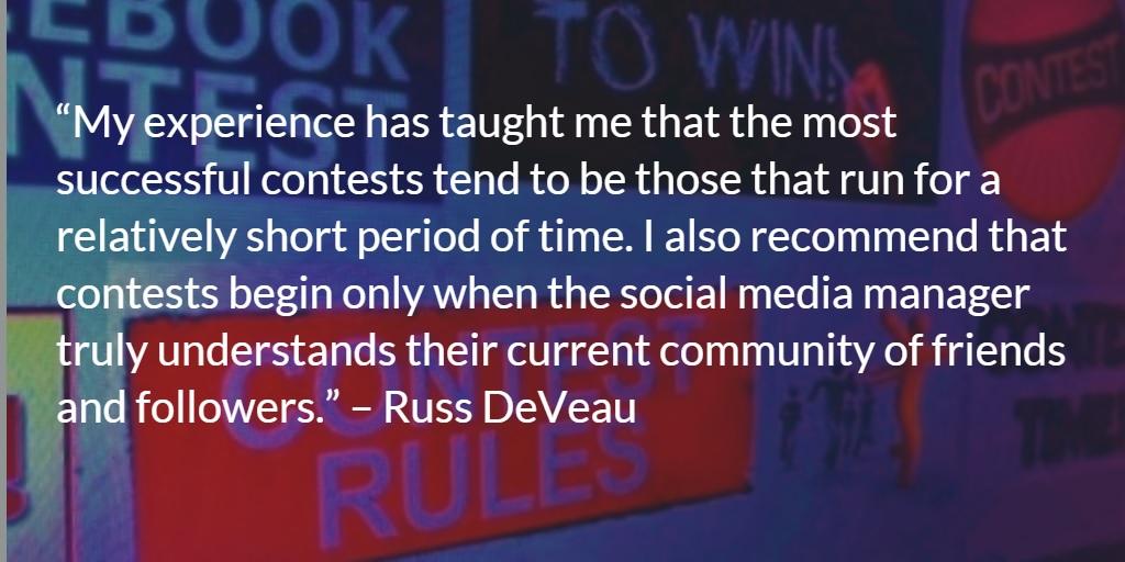 Russ DeVeau Social Media Contests