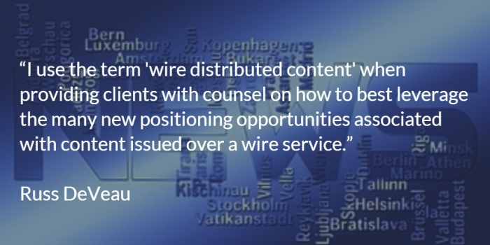 Russ DeVeau wire distributed content