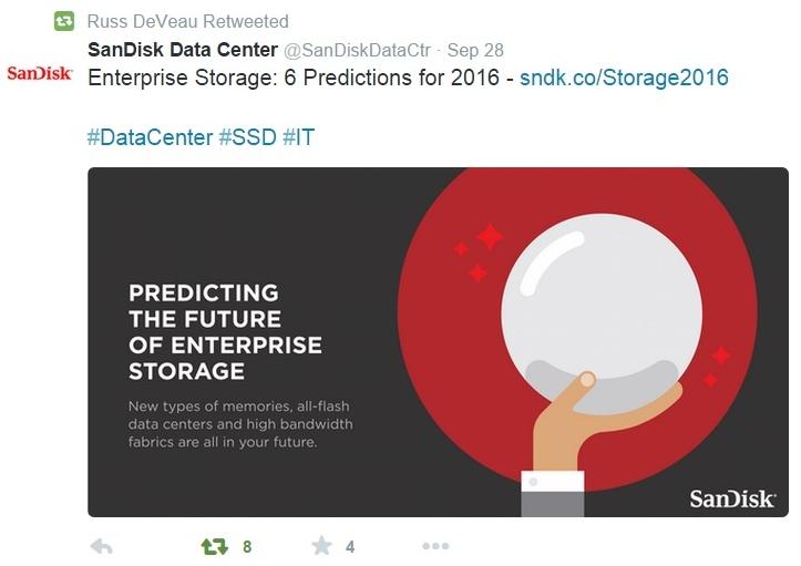 Russ DeVeau blog SanDisk 2016 storage predictions