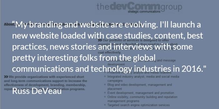 Russ DeVeau New Branding Website