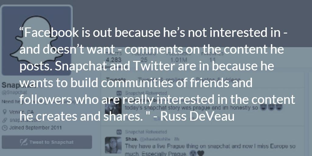 Russ DeVeau Snapchat Twitter Facebook