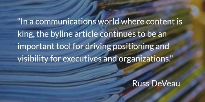 Russ DeVeau byline article content development