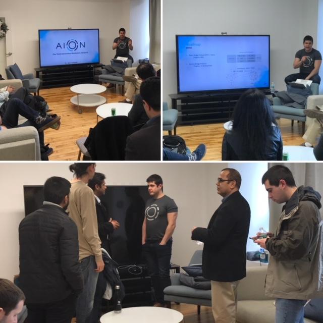Russ DeVeau twitter AION meetup NYC #nyc #blockchain Russell DeVeau