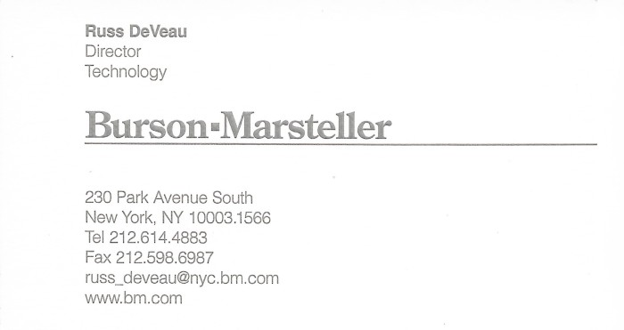 russ deveau business cards russell deveau blog